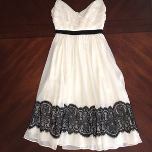 Arden B. Black/Off White Dress